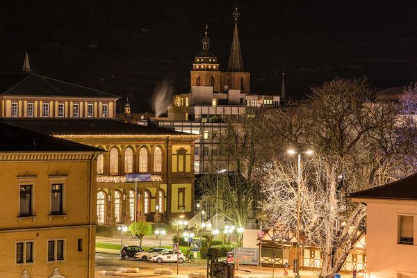 Blick über Neustadt zur Stiftskirche