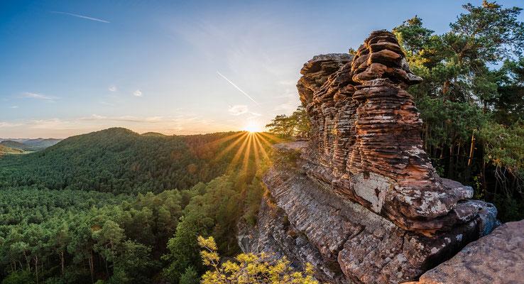 Sonnenuntergang am Rötzenfelsen