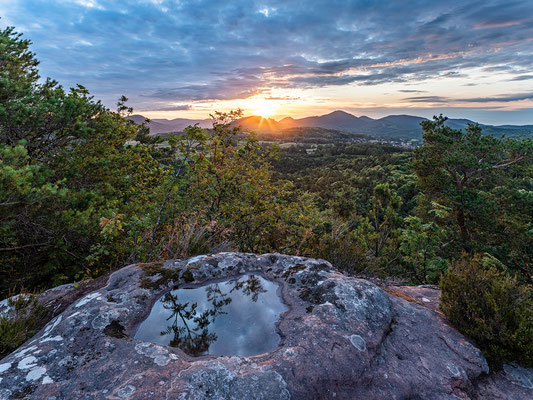 Sonnenaufgang am Dimbergpfeiler