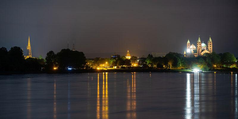 Panoramablick über Speyer und Rhein