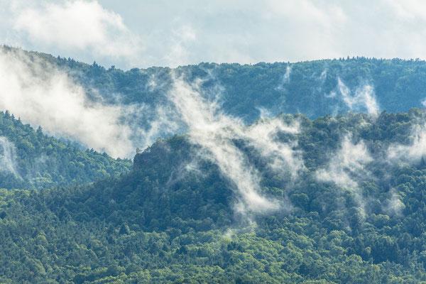 Nebelfetzen nach Gewitter