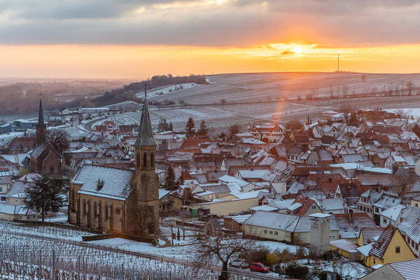 Birkweiler im Schneekleid