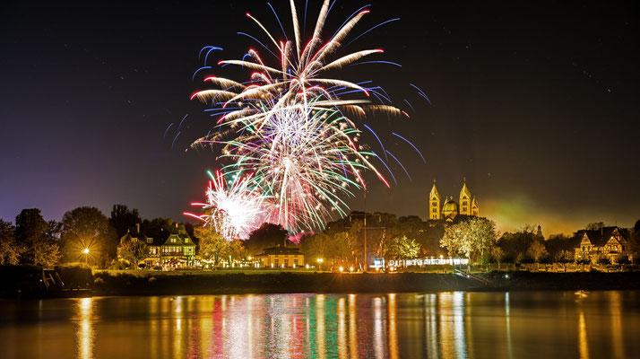 Feuerwerk zur Speyerer Herbstmesse