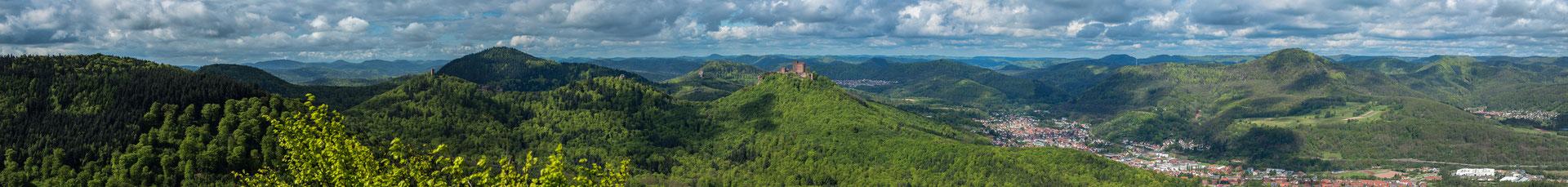 Panoramablick vom Hohenberg