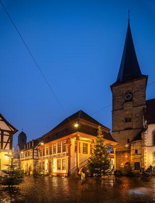 Weihnachtlich geschmücktes Freinsheim
