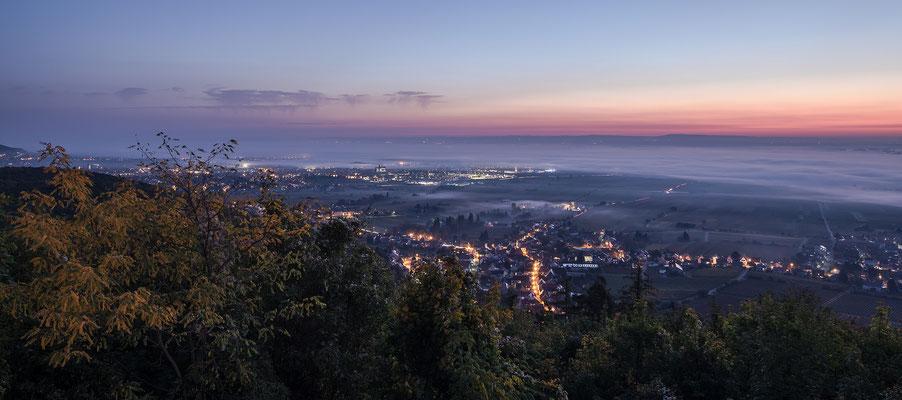 Morgenstimmung über der Rheinebene