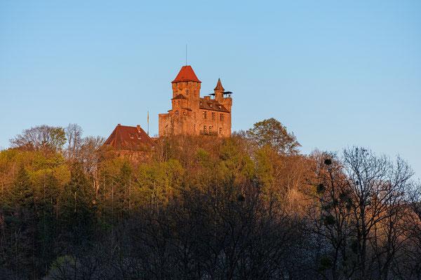 Burg Berwartstein im letzten Licht