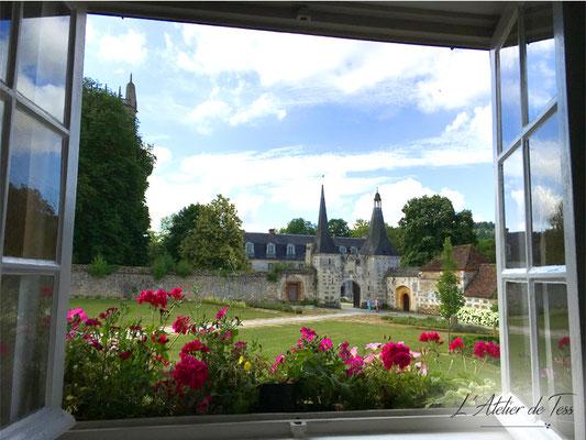 Vue sur l'Abbaye Notre Dame du Bec Hellouin