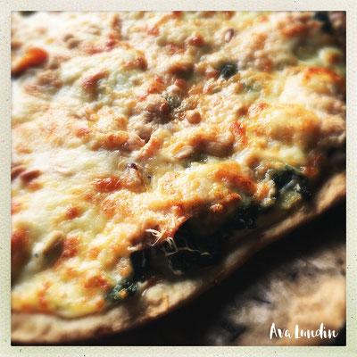 Pizza vom Blech