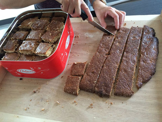 Préparation d'un pain d'épice énergétique pour les solos...