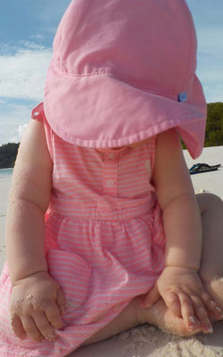 Unser Baby am Whitehaven Beach