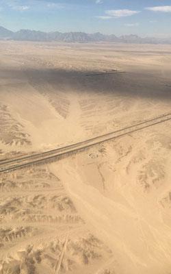 Ausblick vom Flugzeug