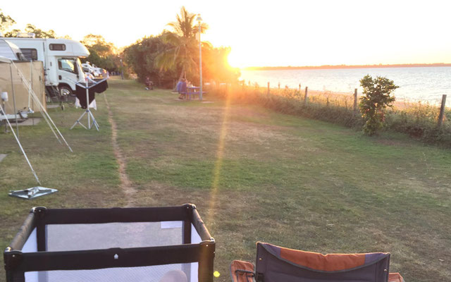 First Row Camping in Hervey Bay