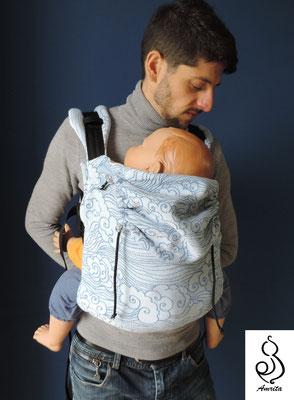 Posizione pancia contro pancia - marsupio toddler