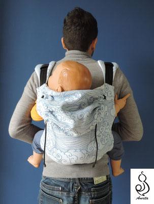 Posizione sulla schiena - marsupio toddler