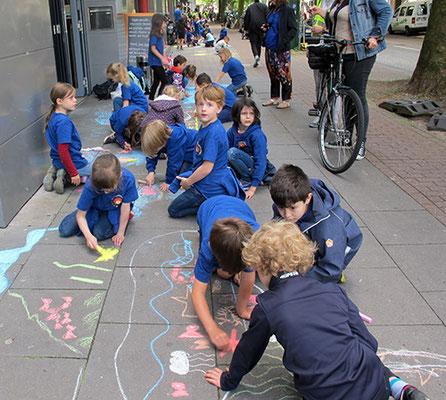 Auch die Kleinen aus der Ludwigstraße waren dabei.
