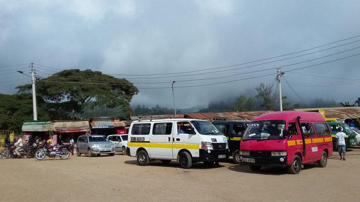 Matatu- und Boda Boda Stage in Wundanyi