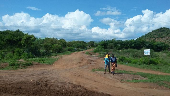 So sehen die meisten Straßen in Kenia aus