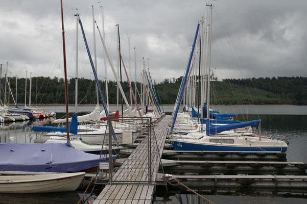 Der rechte Bootssteg