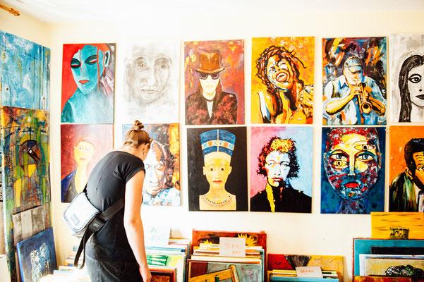 Offenes Atelier bei Leo. 18,/19. August 2018 im Atelier Leo Krystofiak, Elze. Foto: Daniel Kunzfeld