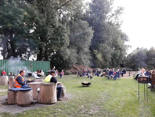 Märchenspinnen am Bledelner Rotten. 27. September 2020