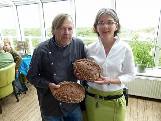 Steffi und Hubert Recktenwald mit dem leckeren Malzkrüstchen