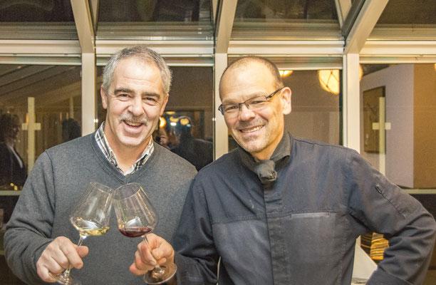Michael Recktenwald mit Herrn Hug vom Weingut Hug