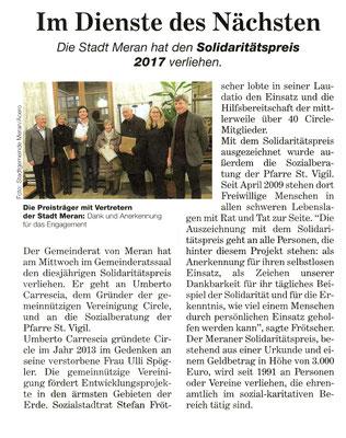 Tageszeitung 01/2018