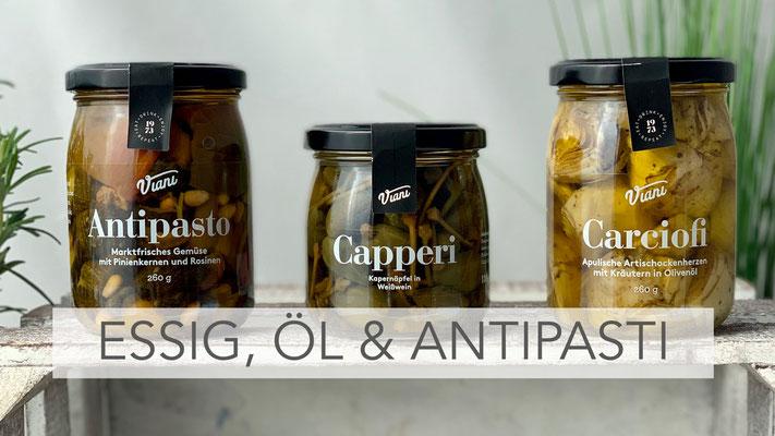 Essig, Öl & Antipasti