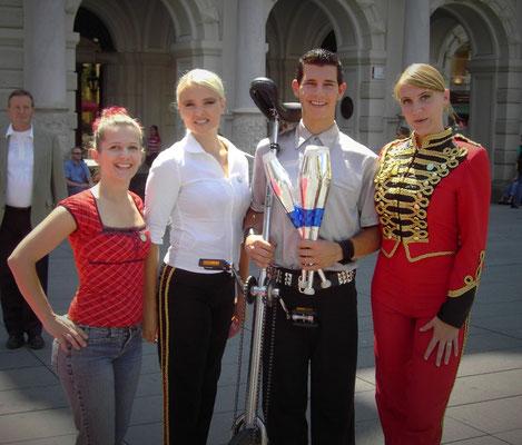 Mit Circus Pikard - Alexander Schneller - in Graz