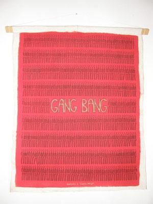 Gang Bang (omaggio a Cassie Wright - dal libro di C. Palahniuk)  tecnica : acrilici anno : 2009 cm. 90 x 70