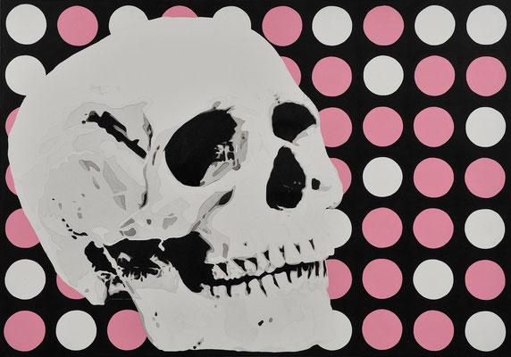 My Skull / acrylic on fabric / 70 x 100 cm / 2008