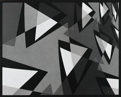 COMPOSITION 2 / lithograph / 55.9x75.9cm / 1974