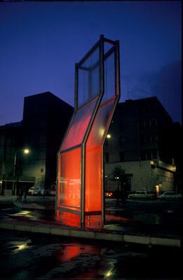FOUNTAIN / glass / 800 x 250 cm / the tube station Narodni, Prague / 1986