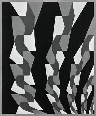 COMPOSITION 4 / lithograph / 75.9x55.9cm / 1974