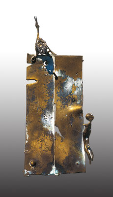 Confrontation I / bronze / 21.5×9.5×3.5cm / 1972 対照 I / ブロンズ