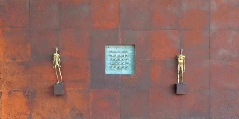 Duality / iron, bronze, aluminium / 90×180cm / 2007-12 二元性 / 鉄、ブロンズ、アルミニウム