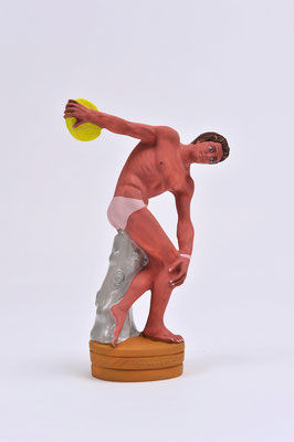 The discus thrower / acrylic on plastic / 21 x 14 x 6 cm / 2015