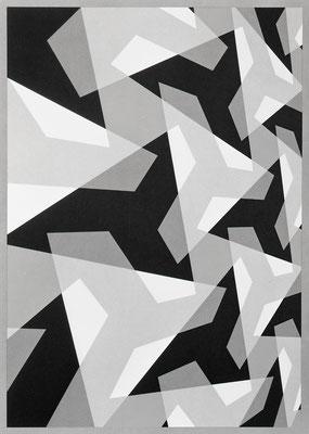 COMPOSITION 5 / lithograph / 75.9x55.9cm / 1974
