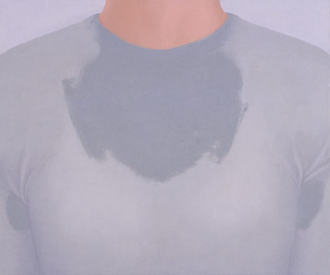 Sweat / oil on canvas / 38.0×45.5cm / 2006 「汗」キャンバスに油彩