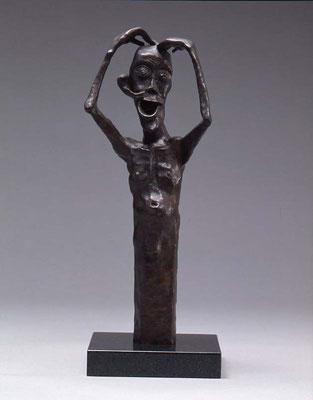 Oops! / bronze / 36.7×12.5×12.0cm / 1989 「アレレ…」ブロンズ