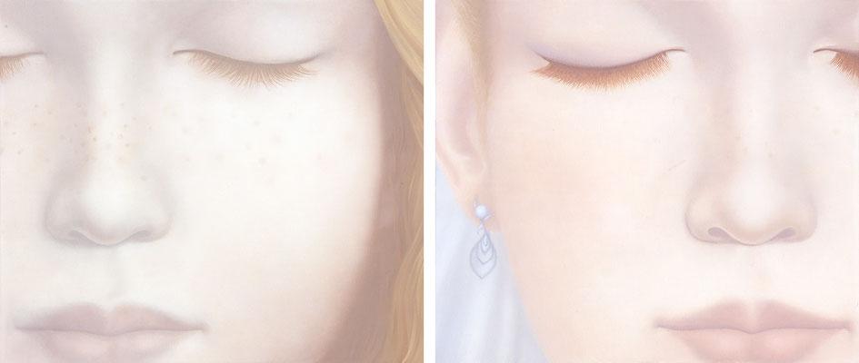 Makeup / oil on canvas / 45.5×53cm / 2010 「化粧」キャンバスに油彩