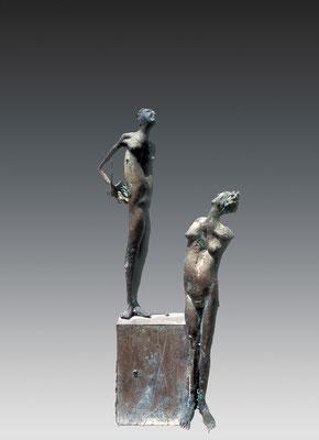 Colloquium / bronze / 57.5×21.5×16.5cm / 1971-72 対話 / ブロンズ