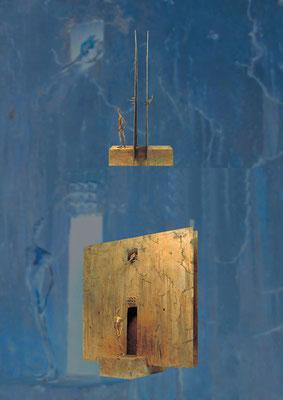 Confrontation II / bronze / 80×74×41cm / 1997 / Vatican Museums 対照 II / ブロンズ / ヴァチカン美術館