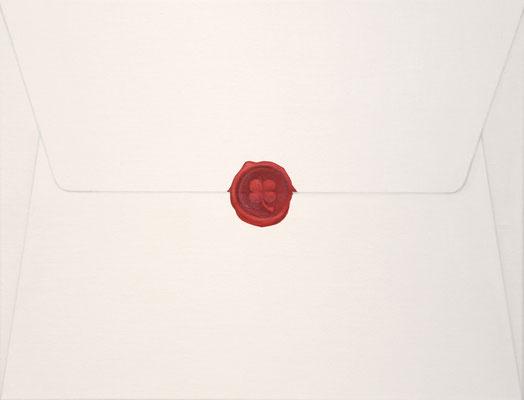 Invitation Card / oil on canvas / 32.2×41.2cm / 2010 「招待状」キャンバスに油彩