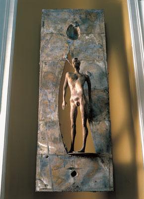 Colloquium / bronze / 200×66×33cm / 1986-87 / Palazzo Madama[Rome] 対話 / ブロンズ / イタリア共和国上院、パラッツォ・マダーマ[ローマ]