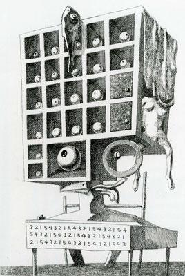 Vice-Principal Mr. D. / etching, aquatint / 21.6×14.6cm / 1956 「副校長D氏像」エッチング、アクアチント