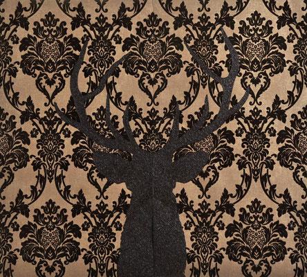 Dear Deer / acrylic on velvety paper / 100 x 105 cm / 2016