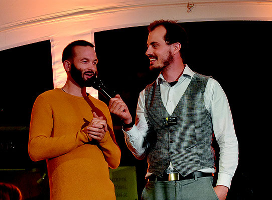 Men Marugg (rechts)  interviewte Dario Deppeler.