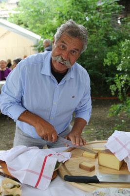 Andy Meier war für das feine Käsebüffet im Hewen Garten verantwortlich.